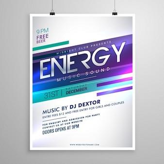 Musique créative design flyer template moderne