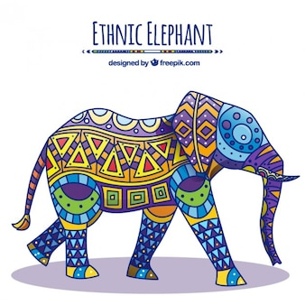 Natif éléphant décoré