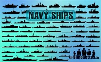 navires de la marine vecteur