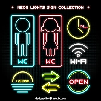 Neon collection signe