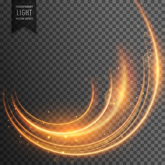 Néon light streak transparent effect vector background
