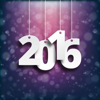 New year background avec des numéros suspendus