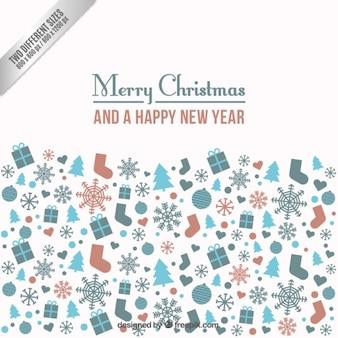 Noël et Nouvel An Fond
