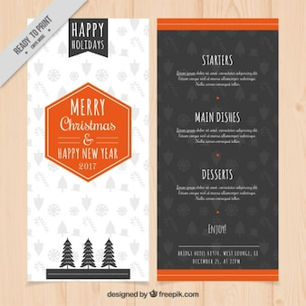 Noël et Nouvel An Menu
