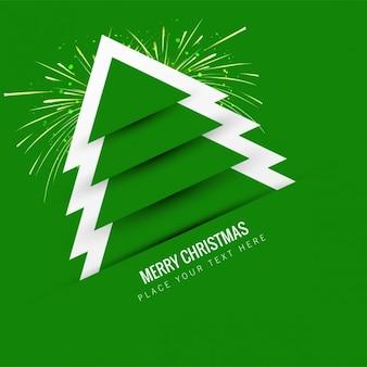 Noël vert fond arbre