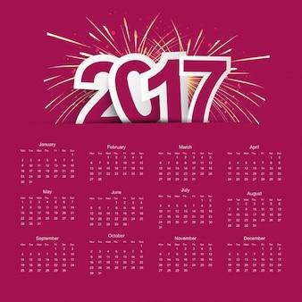 Nouvel an 2017 calendrier