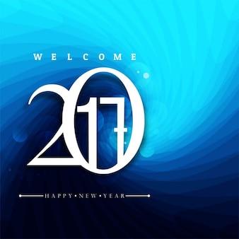 Nouvel an 2017 fond bleu