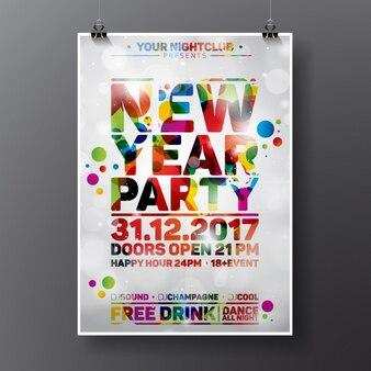 Nouvel an conception de l'affiche du parti