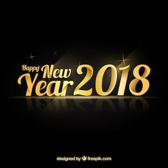 Nouvel an élégant avec style doré