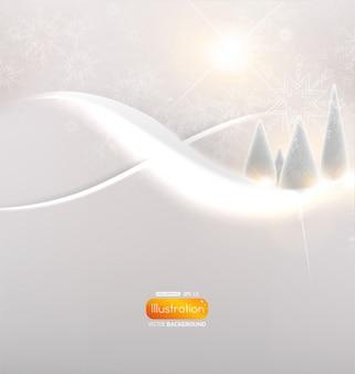 Nouvel hiver couleur de forme blanche