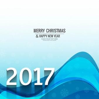 Nouvelle année 2017 ondulée fond