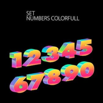 Numéros Colorfull fixés