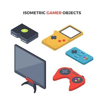 Objets de gamers isométriques