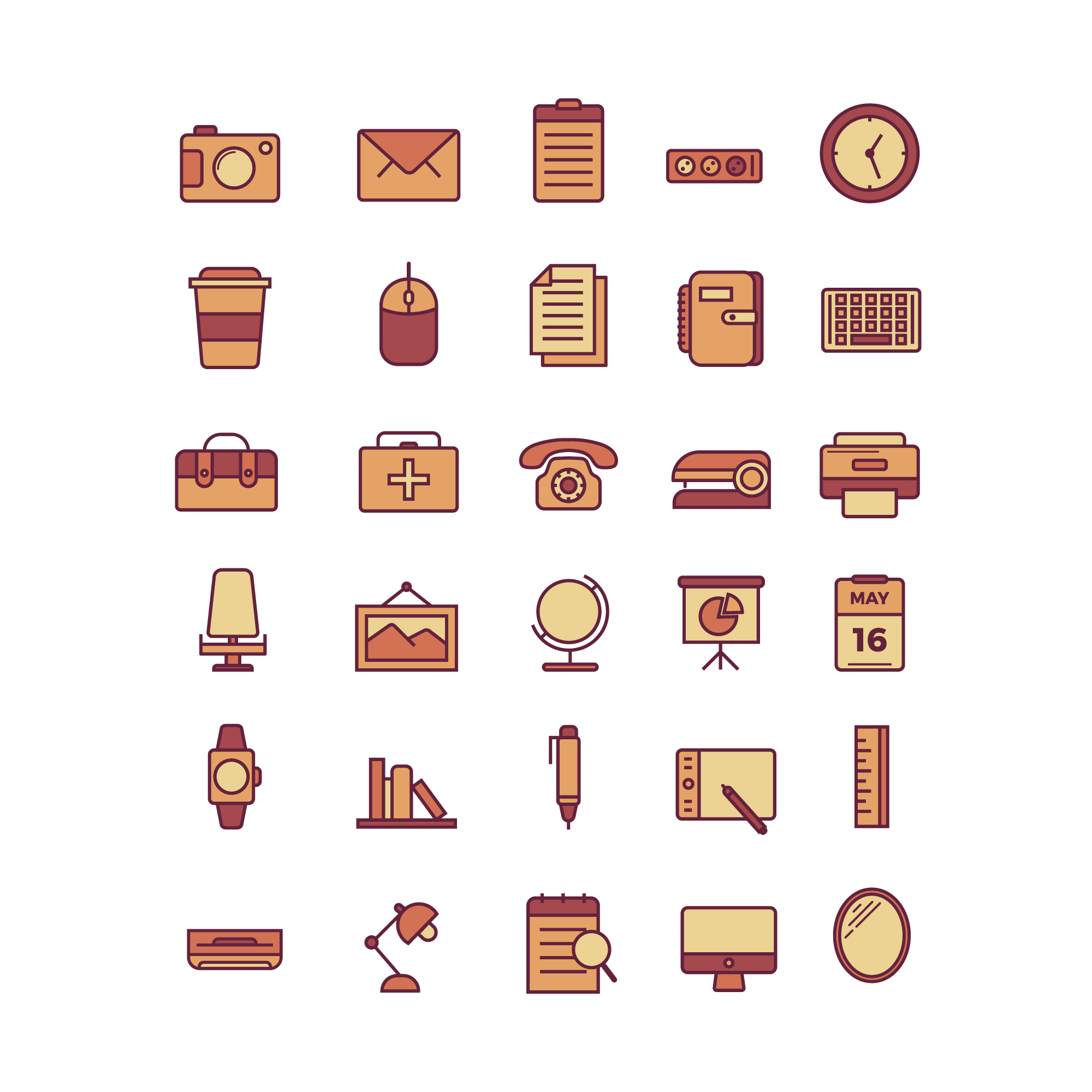 Objets icon collecti