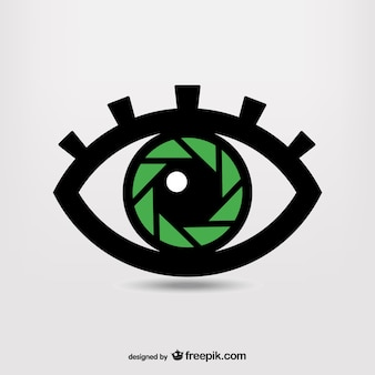 Obturateur symbole de photographie de l'œil