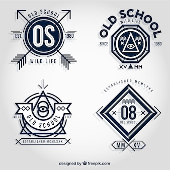 Old badges scolaires