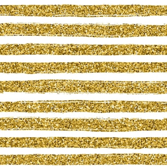 Or ligne glitter texture sur fond blanc seamless style d'or Vector design Célébration fond métallique