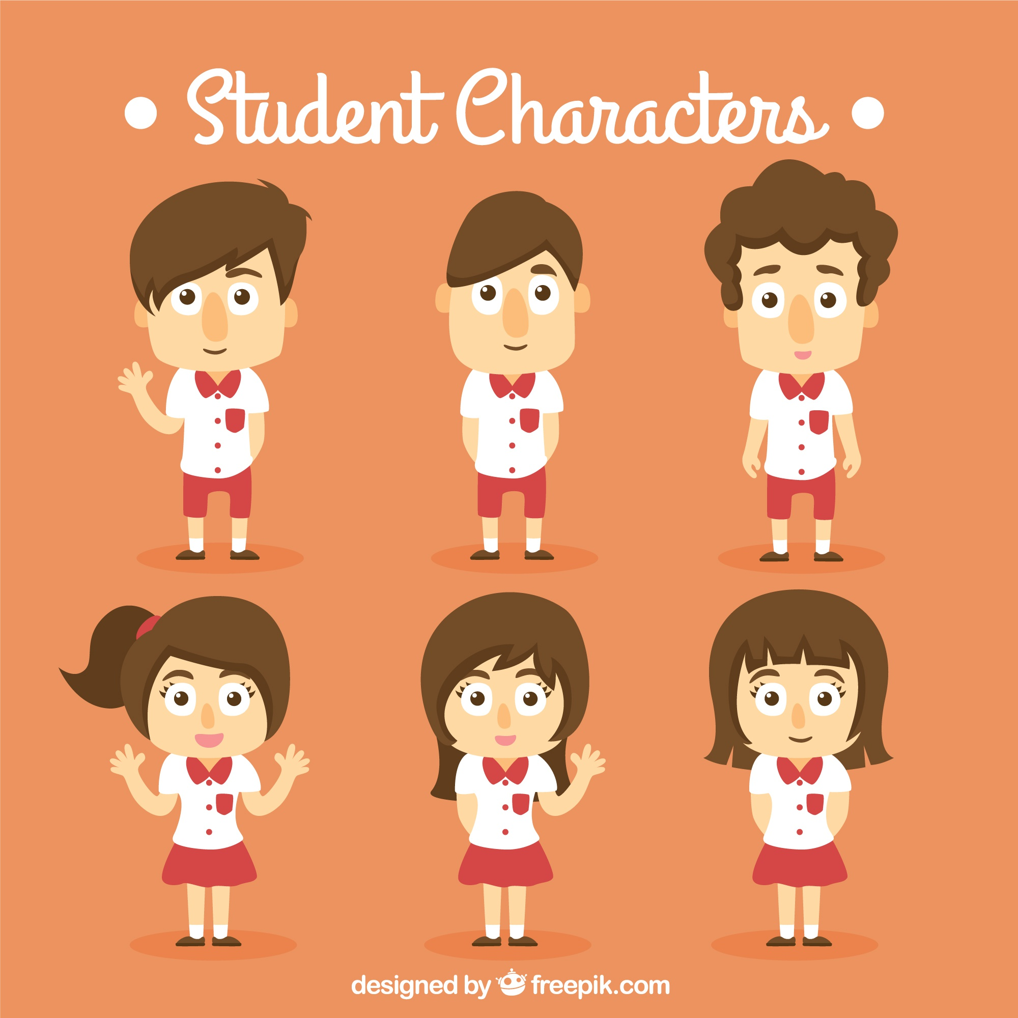 Orange Student Personnage Collection