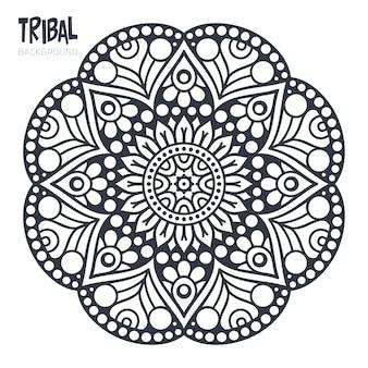 Ornement belle carte avec mandala Élément de cercle géométrique réalisé en vecteur