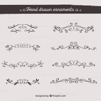 Ornements dessinés à la main
