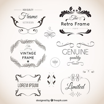 Ornements vintage set