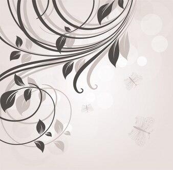 Ornés de belles branches de ligne swirl