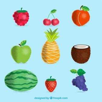 Pack avec différents types de fruits