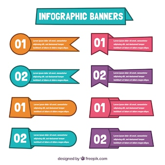 Pack bannière utile infographique