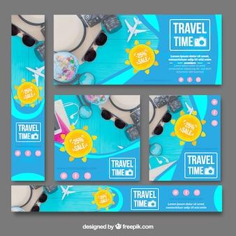 Pack bannières de voyage d'été