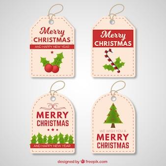 Pack d'étiquettes de Noël vintage