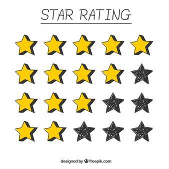 Pack d'étoiles dessinées à la main