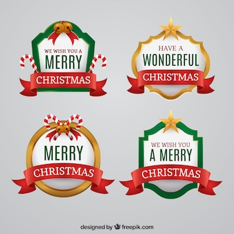 Pack de badges de Noël