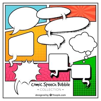 Pack de ballons de dialogue avec des vignettes de bande dessinée