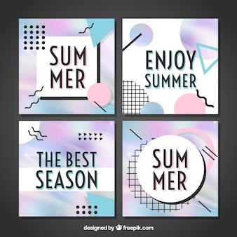 Pack de cartes memphis d'été
