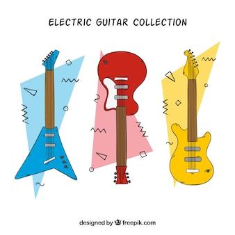 Pack de guitares électriques à la main