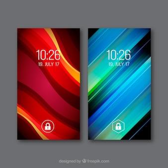 Pack de téléphones mobiles abstraits