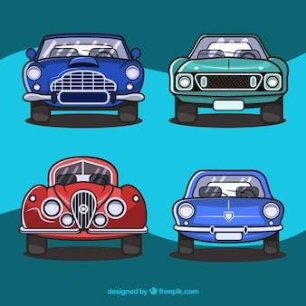 Pack de voitures anciennes en position avant