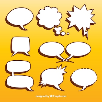 Pack of speech bubbles
