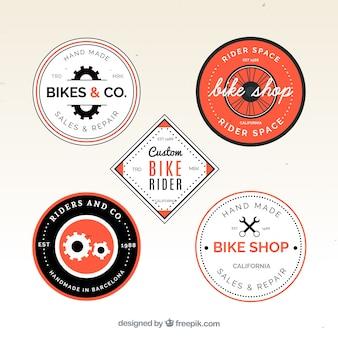 Pack vintage de logos à vélo