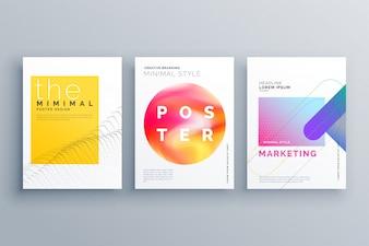 Page de couverture minimale créative ou modèle de conception de prospectus de brochure