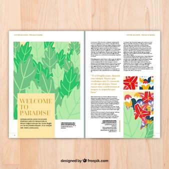 pages Magazine modèle