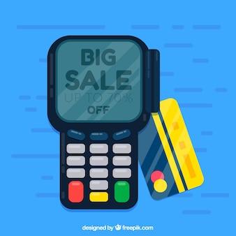 Paiement par carte de crédit avec un design plat