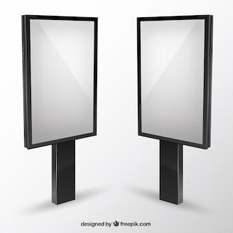 Panneaux d'affichage vides maquette