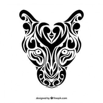 Panthera tribal vecteur