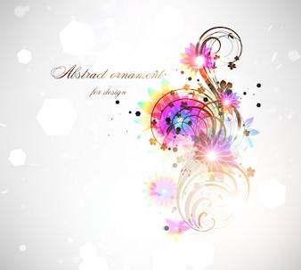Papier peint fleuri lux brillance feuillage