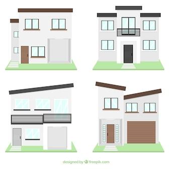 Paquet d'appartements en design plat