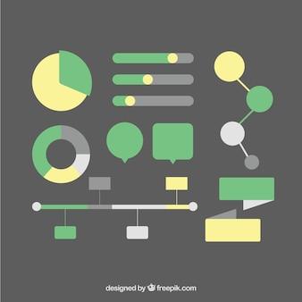 Paquet d'éléments pour l'infographie