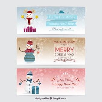 Paquet de bannières de bonhomme de neige