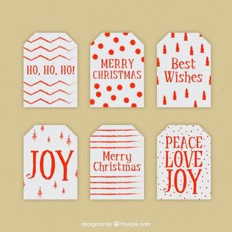 Paquet de belles étiquettes de cadeau de Noël