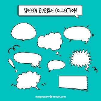 Paquet de bulles de discours dessinées à la main